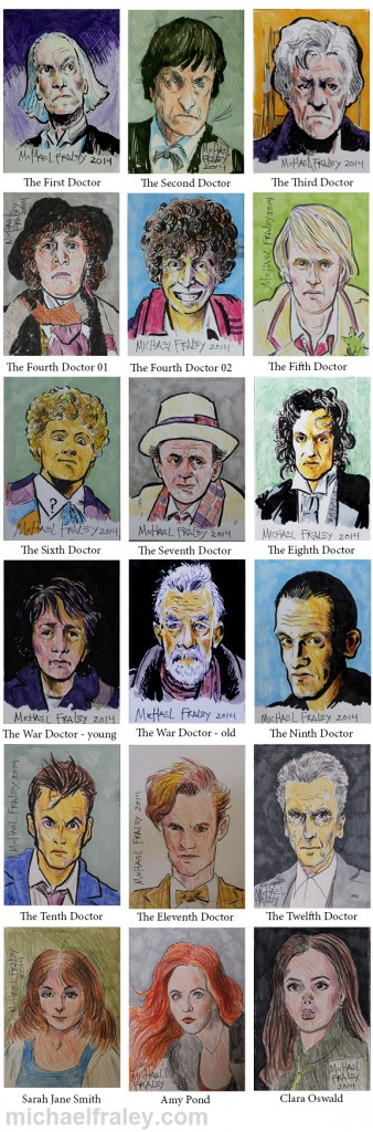 Dr Who sketch cards